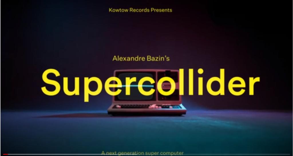 Alexandre Bazin : Supercollider son nouveau morceau