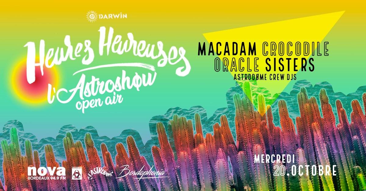 L'Astroshøw Open Air à Darwin : Oracle Sisters et Macadam Crocodile au rendez-vous !
